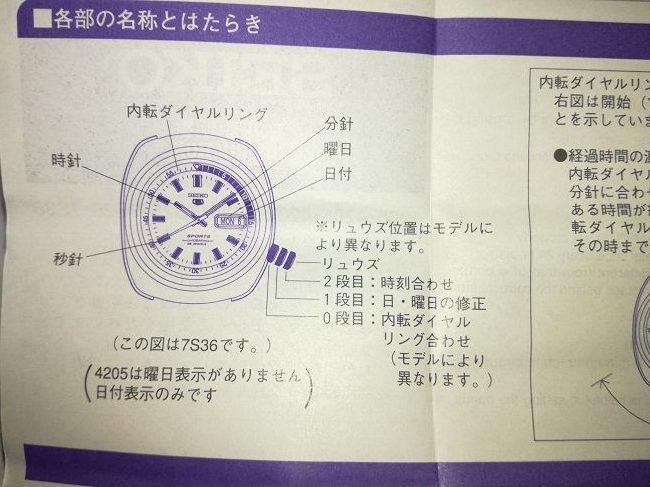 セイコーダイバーズ「ブラックボーイ(SKX007KC)」説明書