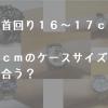 【手首回り16~17cm】何mmのケースサイズが一番似合うのか?【メンズ腕時計】
