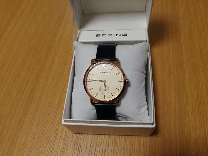 BERING(ベーリング)CALF LEATHER 13238-664 開封