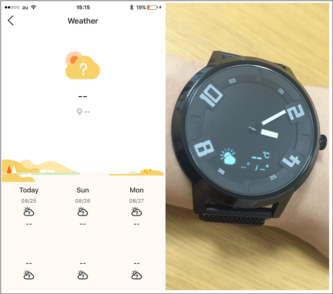 Lenovo Watch X 天気情報