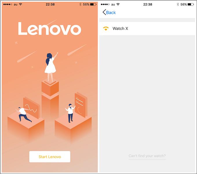 Lenovo Watch X アプリ立ち上げ・ペアリング